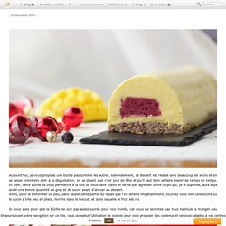 Bûche mangue – fruits rouges