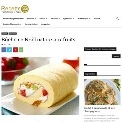 Bûche de Noël nature aux fruits