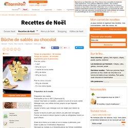 Bûche de sablés au chocolat : Recette de Bûche de sablés au chocolat