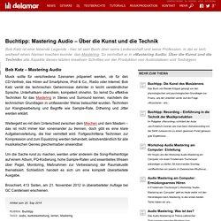 Buchtipp: Mastering Audio - Über die Kunst und die Technik