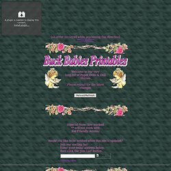 Buck Babies Paper Dolls & Dollhouse Printables