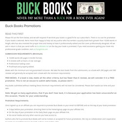 Buck Books Promotions - Buck Books