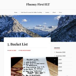 7. Bucket List – Fluency First ELT