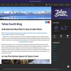 20 Bucket List Must Do's In 2021 at Lake Tahoe