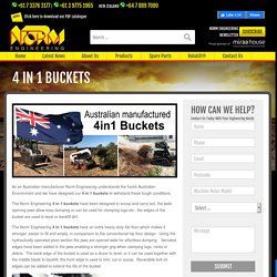 4 in 1 Buckets for Sale - NORM Engineering