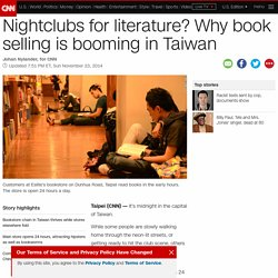 Bucking global trend, Taiwan bookstore Eslite thrives