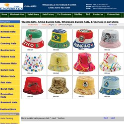 Buckle Hats, China Buckle Hats, wholesale Buckle hat in our China hat factory