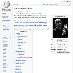 Buckminster Fuller - Wikipedia, the free encyclopedia - Waterfox