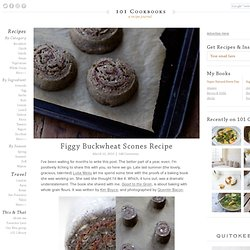 Figgy Buckwheat Scones Recipe
