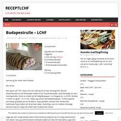 Budapestrulle – LCHF