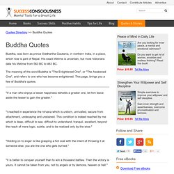 Buddha Quotes, Sayings and Words of Wisdom