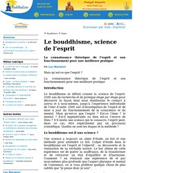 Le bouddhisme, science de l'esprit