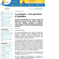 La posture : une question d'équilibre