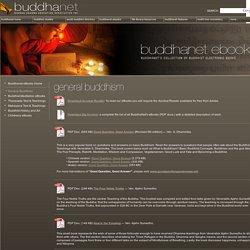 eBooks: General Buddhism
