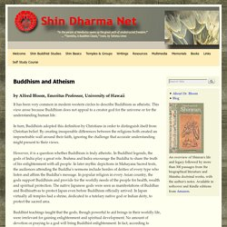 Buddhism and Atheism