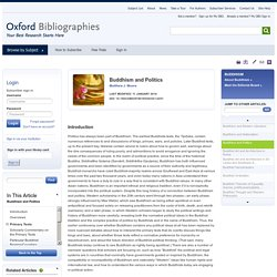 Buddhism and Politics - Buddhism - Oxford Bibliographies