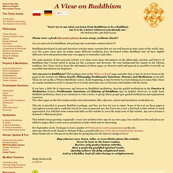 View on Buddhism: (Tibetan) Buddhist practice and philosophy
