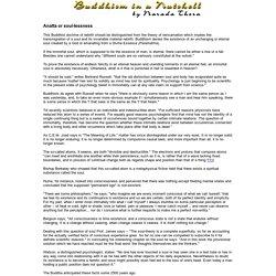Buddhism in a Nutshell - Anatta
