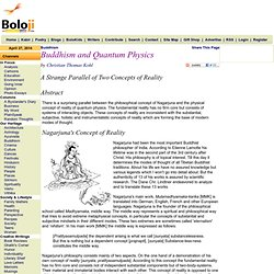 Buddhism and Quantum Physics by Christian Thomas Kohl