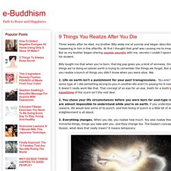 e-Buddhism: 9 Things You Realize After You Die