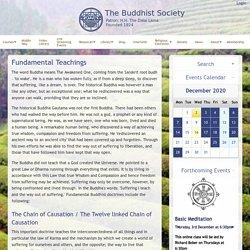 The Buddhist Society: Fundamental Teachings