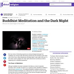 Buddhist Meditation and the Dark Night of the Soul
