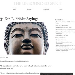 31 Zen Buddhist Sayings
