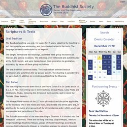 The Buddhist Society: Scriptures & Texts