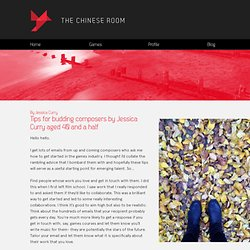 Tips for budding composers by Jessica Curry aged 40 and a half - The Chinese Room