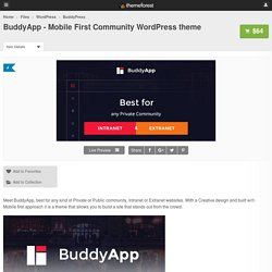 BuddyApp - Mobile First Community WordPress theme - WordPress