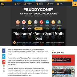 """Buddycons"" – Vector Social Media Icons"