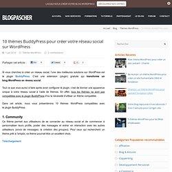 10 thèmes BuddyPress pour créer votre réseau social sur WordPress