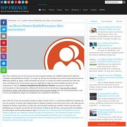 19 + meilleurs thèmes BuddyPress pour Sites communautaires - WP French