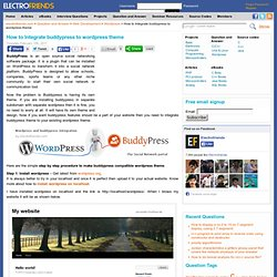 Integrate buddypress theme and wordpress theme