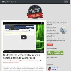 BuddyPress, créer votre réseau social à base de WordPress
