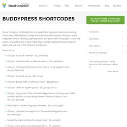 BuddyPress Shortcodes for Visual Composer WordPress