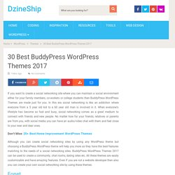 30 Best BuddyPress WordPress Themes 2017