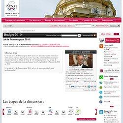PROJET DE LOI DE FINANCES POUR 2010