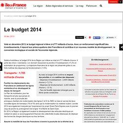 Le budget 2014