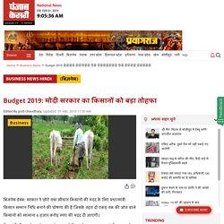 Budget 2019: मोदी सरकार का किसानों को बड़ा तोहफा - modi government s big gift to farmers