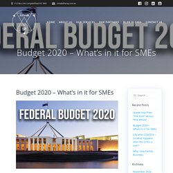 Budget 2020 – What's in it for SMEs - affarisp
