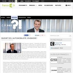 Budget de l'automobiliste : en baisse ! - 13/06/2014 - News et vidéos en replay - C à dire