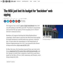 The NSA just lost its budget for 'backdoor' web spying