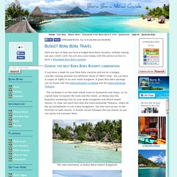 Budget Bora Bora Travel