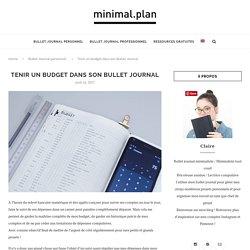 Gérer son budget grâce au Bullet Journal - Minimal.Plan