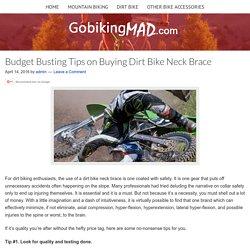 Dirt bike neck brace