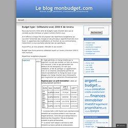 Budget type : Célibataire avec 2000 € de revenu