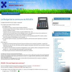Le Budget de la Commune de ROUEN (76000, 76100) - Un site du Réseau ProXiti