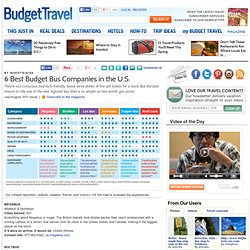 6 Best Budget Bus Companies in the U.S.