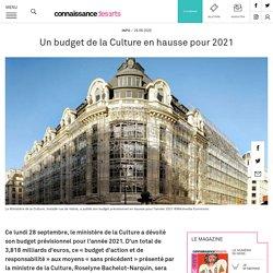 Un budget de la Culture en hausse pour 2021